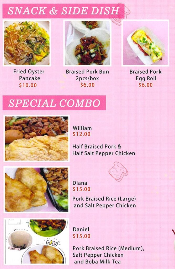 Sozo Kitchen menu - snack, sides, combo