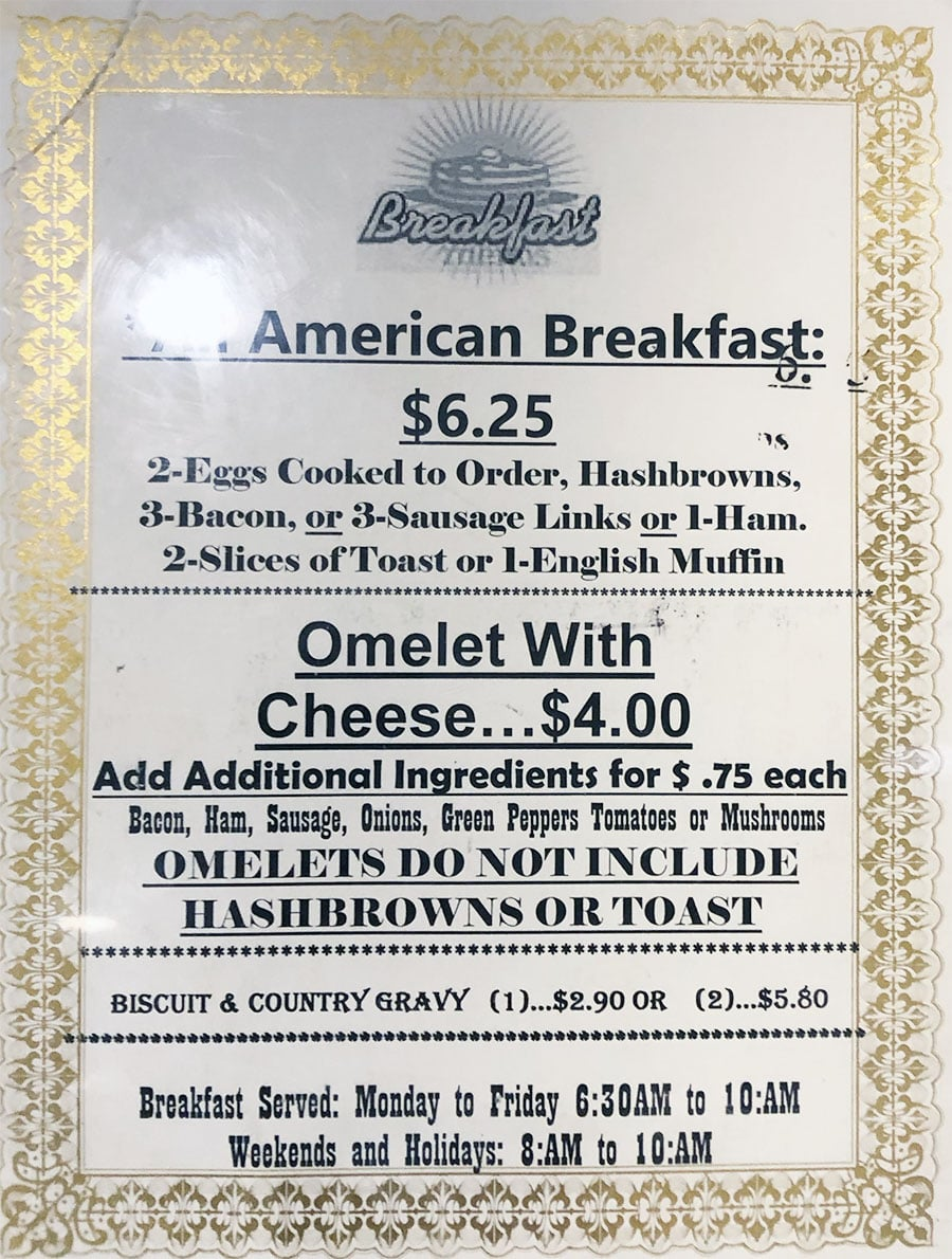 University Of Utah Hospital Cafeteria - made to order breakfast menu