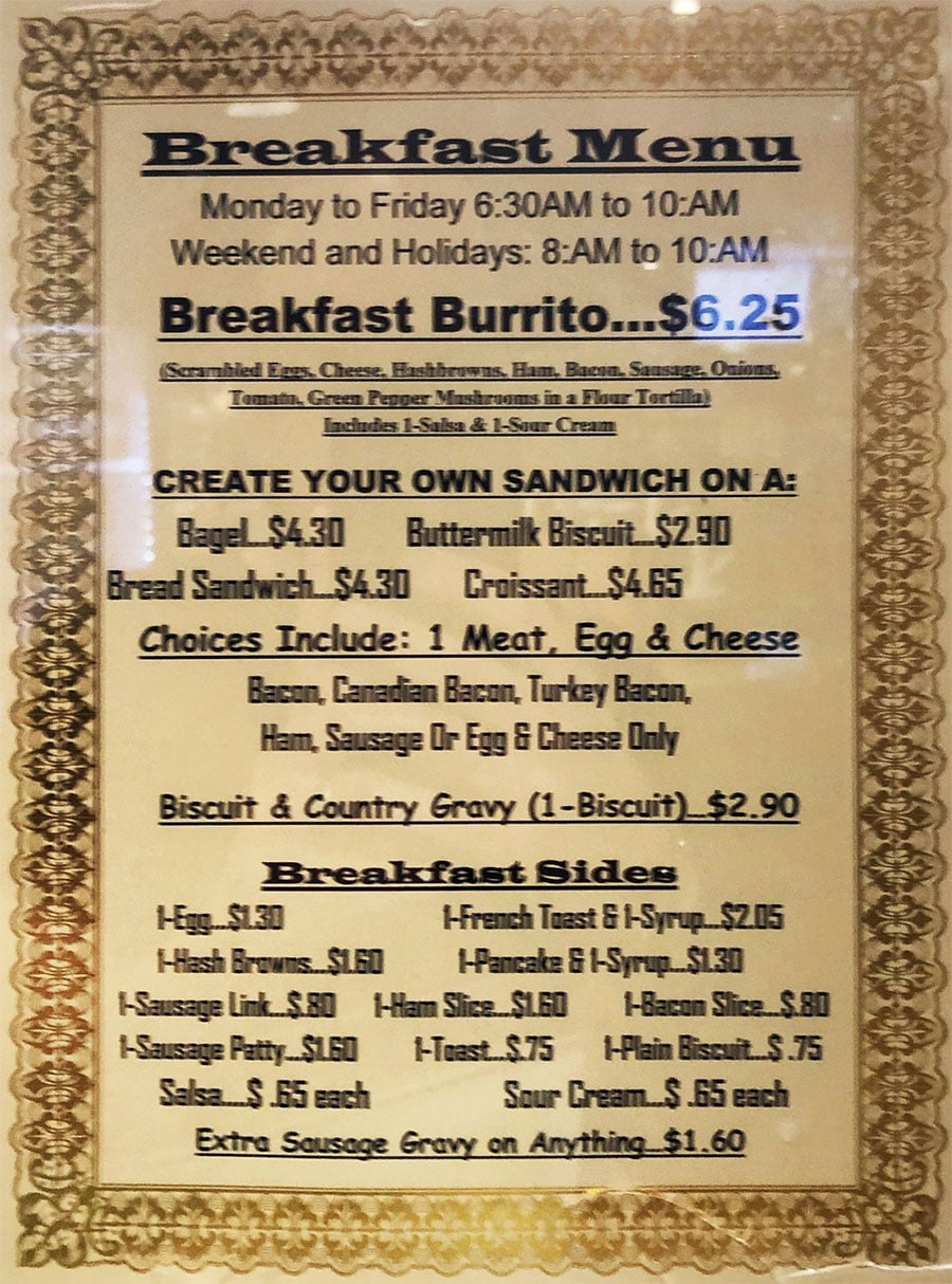University Of Utah Hospital Cafeteria - more breakfast menu