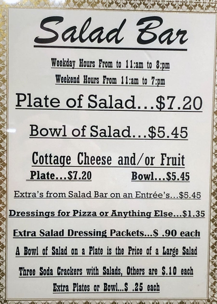University Of Utah Hospital Cafeteria - salad bar menu