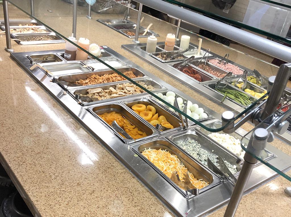 University Of Utah cafteria salad bar