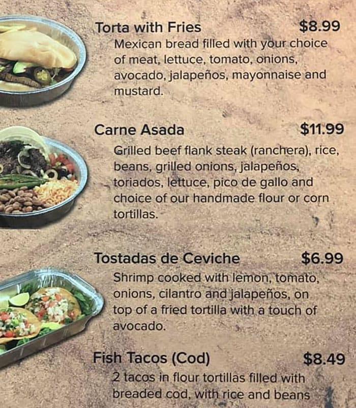 Hacienda Mexican Grill menu - more items