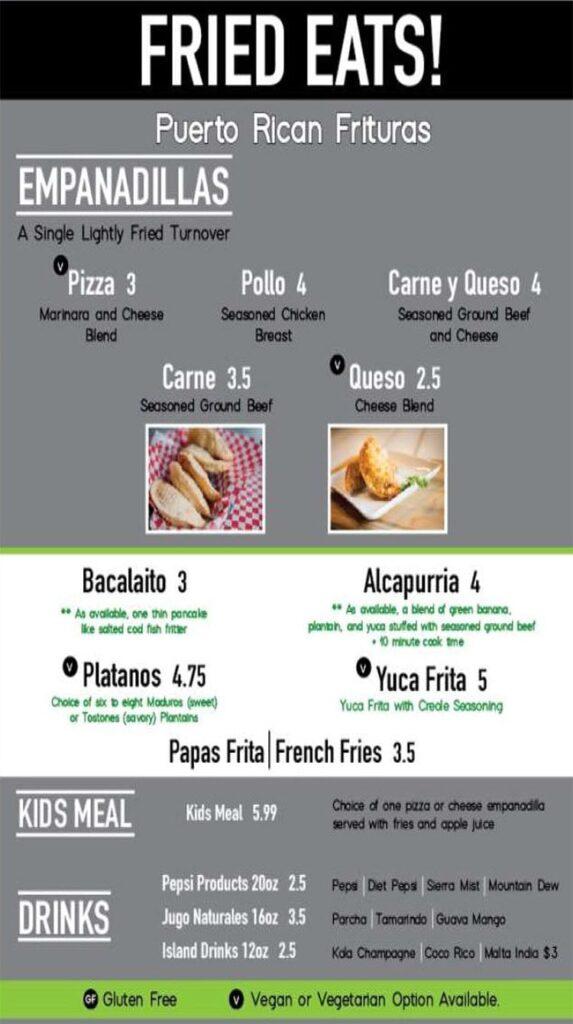 Papito Moe's menu - fried eats