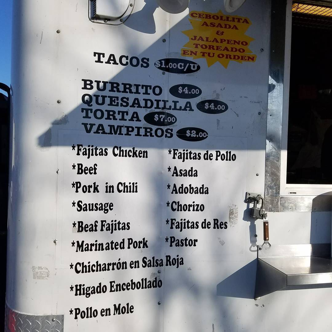 Tacos Don Rafa menu (SLC Tacos)