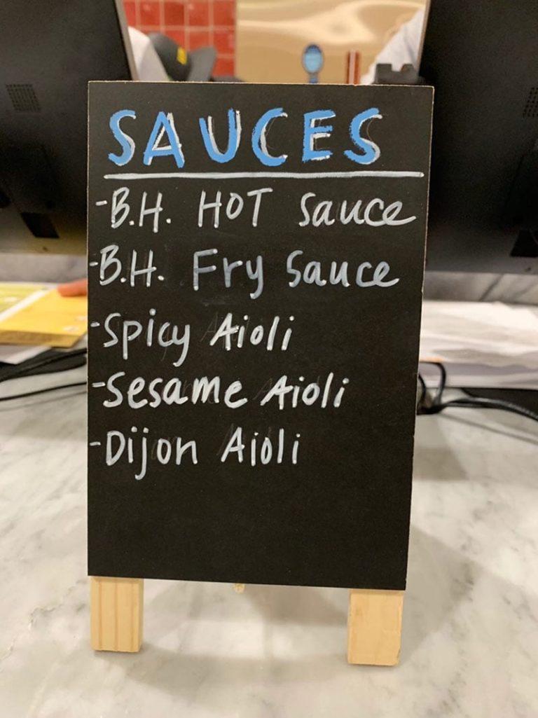 Birdhouse chicken menu
