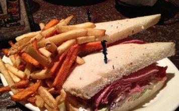 MacCools corned beef sandwich