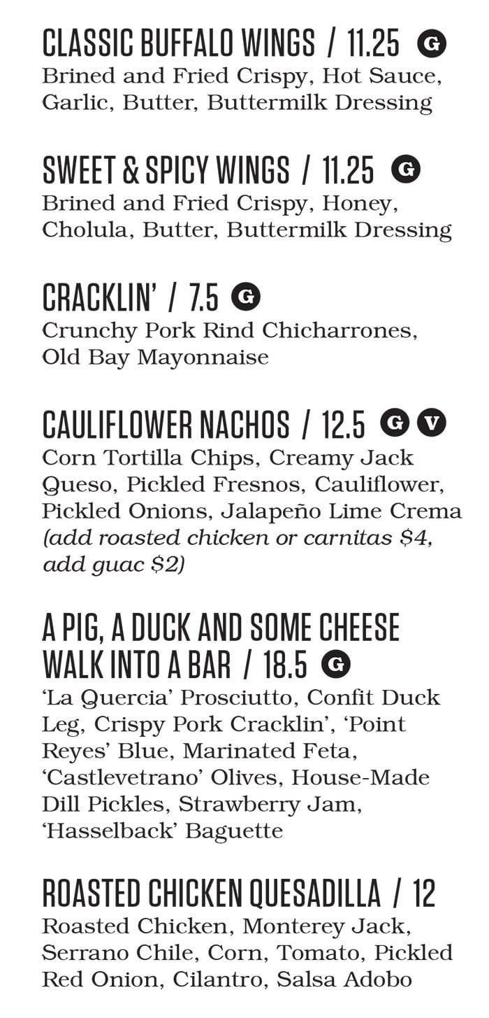 Punch Bowl Social Salt Lake City menu - shareables continued