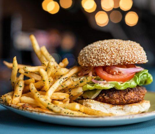 Punch Bowl Social SLC burger