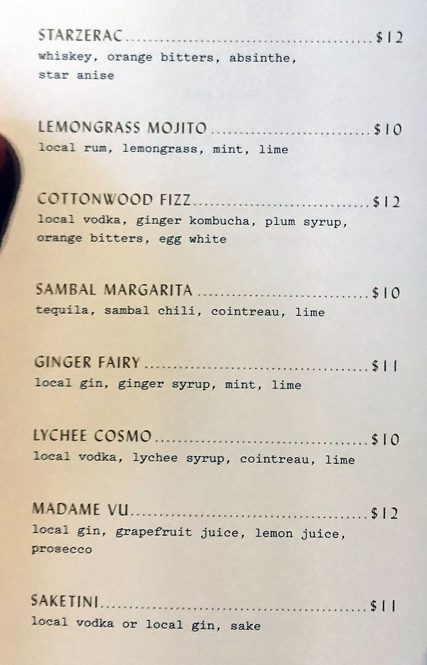 SAOLA - cocktails