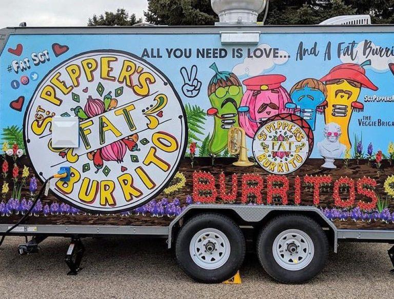 Sgt. Pepper's FAT Burrito food truck menu