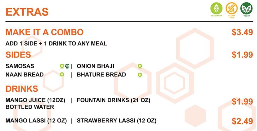 Zimbu menu - entrees
