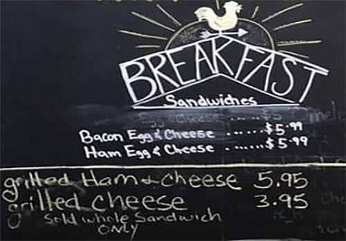 Lettuce And Ladles menu - breakfast