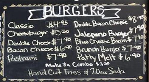 Lettuce And Ladles menu - burgers