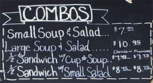 Lettuce And Ladles menu - combos