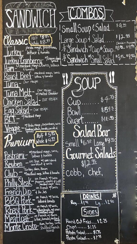 Lettuce And Ladles menu - sandwich, combos, soup