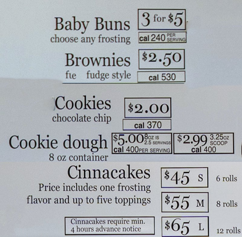 Cinnaholic Salt Lake City menu - other items