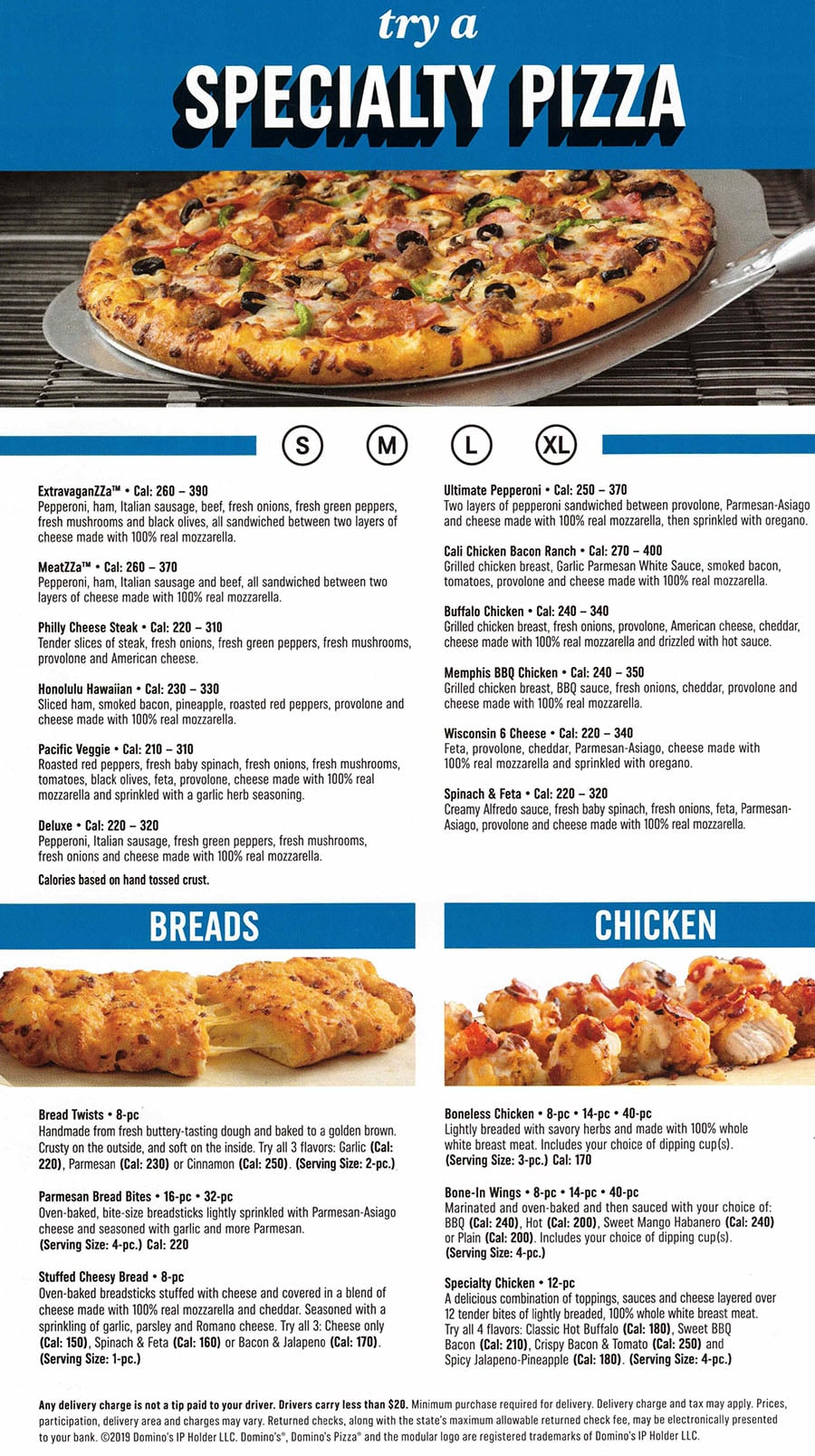 Domino's Pizza menu - specialty pizza