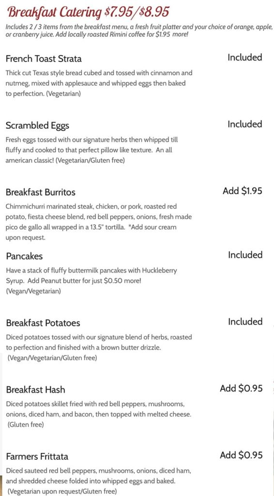 Huckleberry Grill - breakfast
