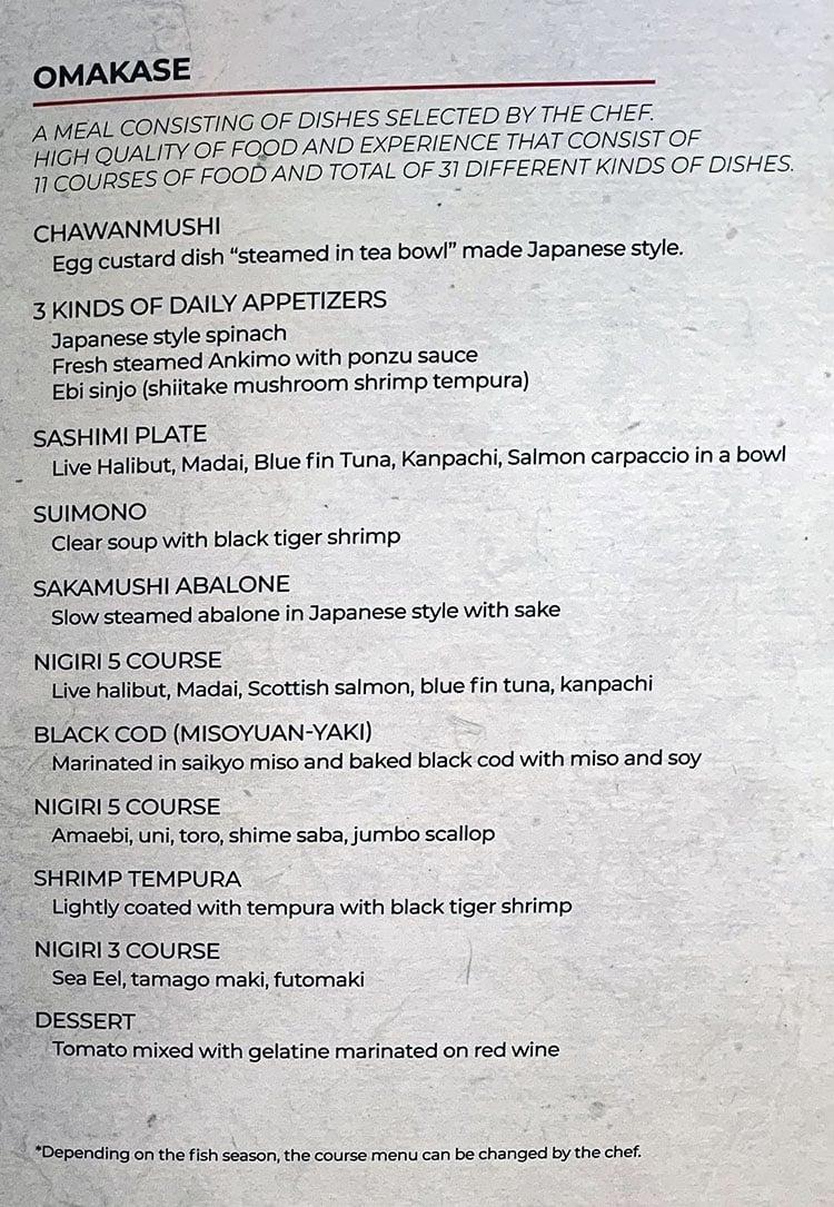 Momo's Japanese Sushi & Ramen - omakase