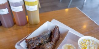 Charlotte Rose's Carolina BBQ menu - ribs, creamed corn