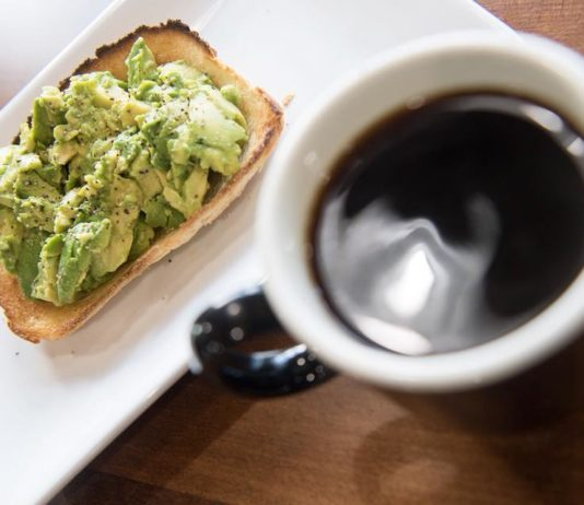 Maud's Cafe - coffee and avocado toast