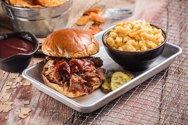 Real Famous BBQ menu - pulled pork sandwich