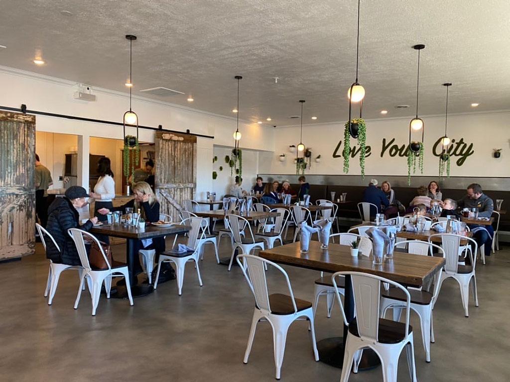Root'd Cafe interior (Salt Plate City)