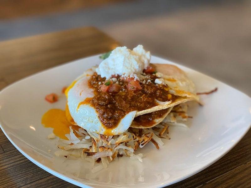 Root'd Cafe menu - huevos rancheros