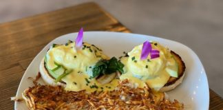 Root'd Cafe menu - spinach and avocado benedict