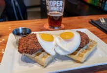 Avenues Proper - chicken and waffles