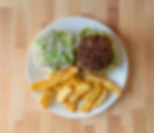 Generic burger and fries