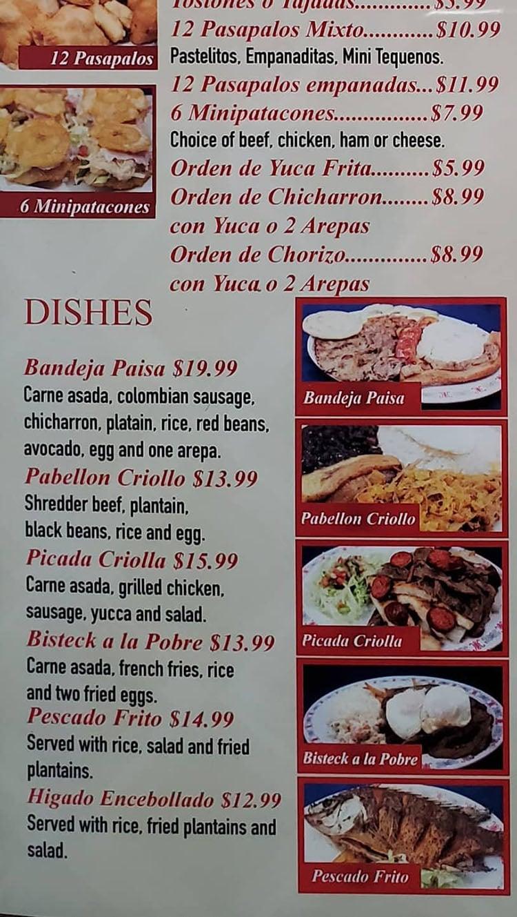 Sabor Latino menu - empanadas, brekfast continued