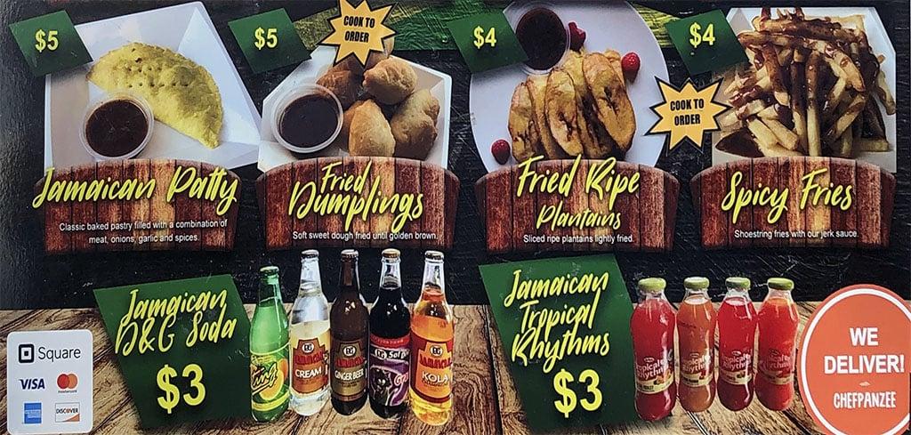Jamaica's Kitchen menu - two