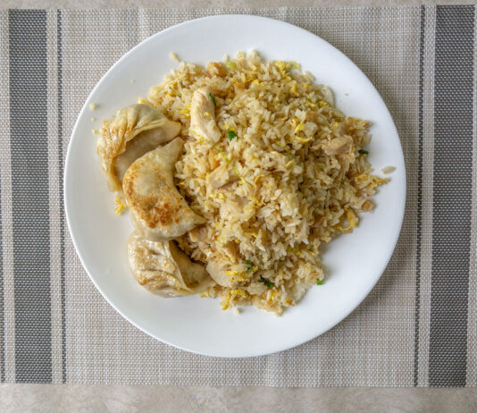 New Golden Dragon - chicken fried rice and dumplings