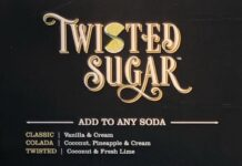 Twisted Sugar menu - page one