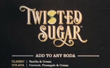 Twisted Sugar menu - page one