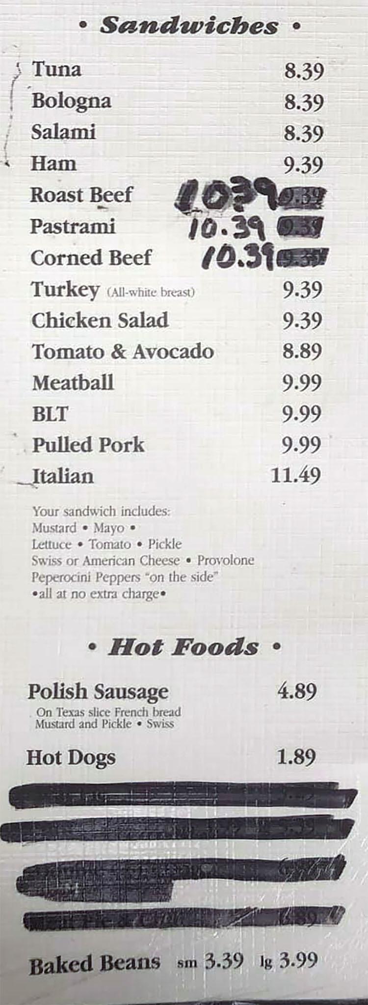 Grove Market & Deli menu - sandwiches, hot foods