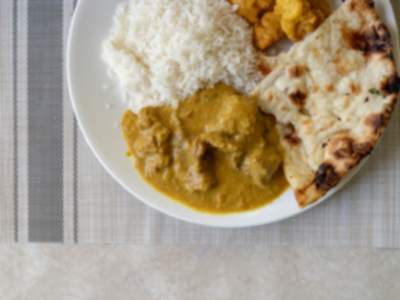 Generic curry rice and naan