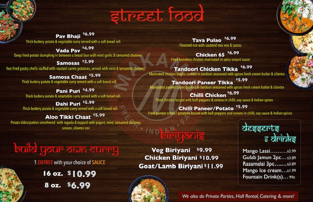 Makam's Kitchen menu - page two