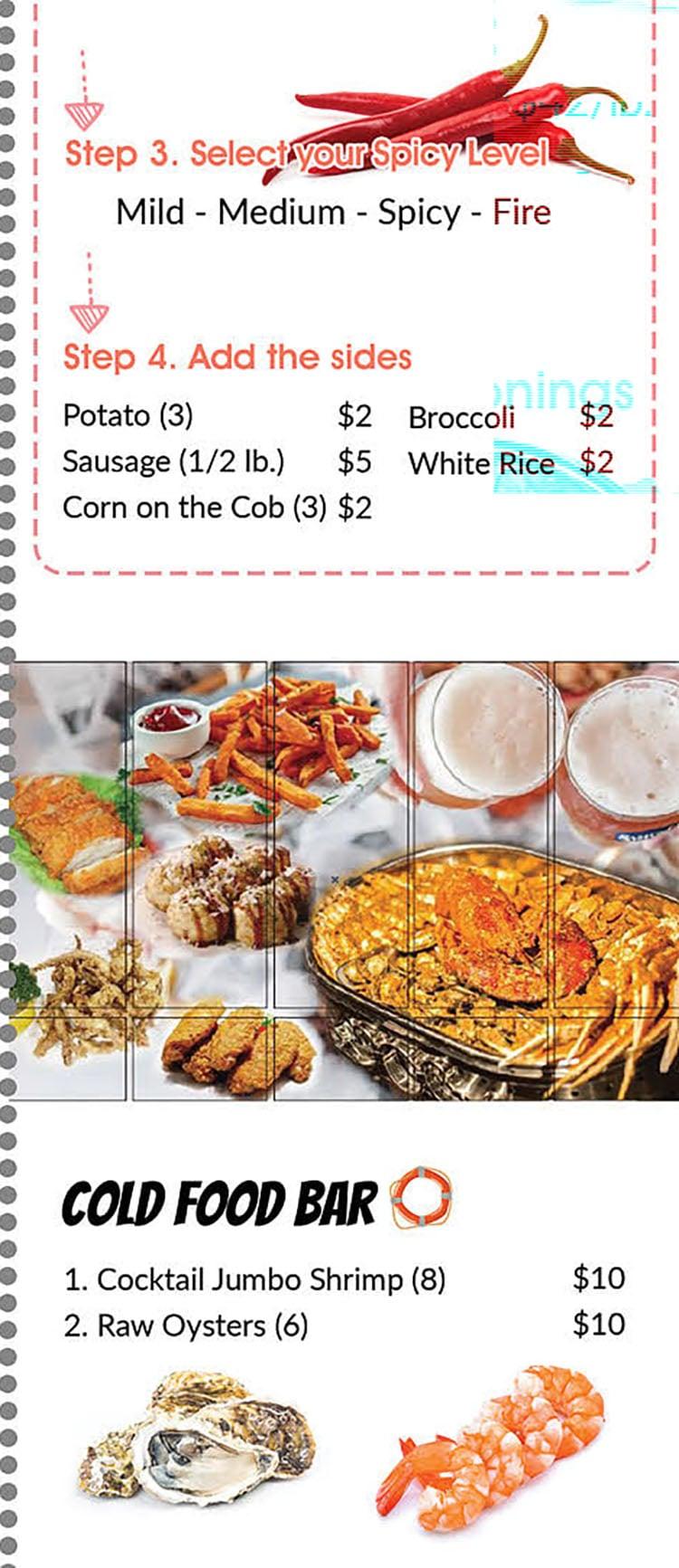 Cajun Boil Seafood Restaurant menu - seafood boils continued