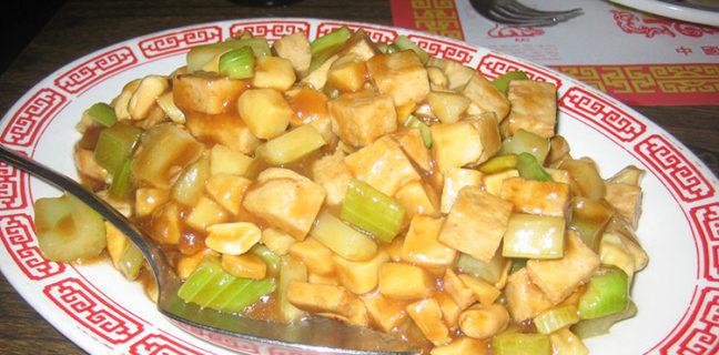 Long Life Vegi House - kung pao chicken