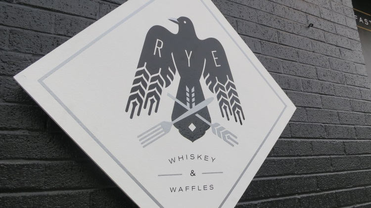 rye whiskey and waffles logo
