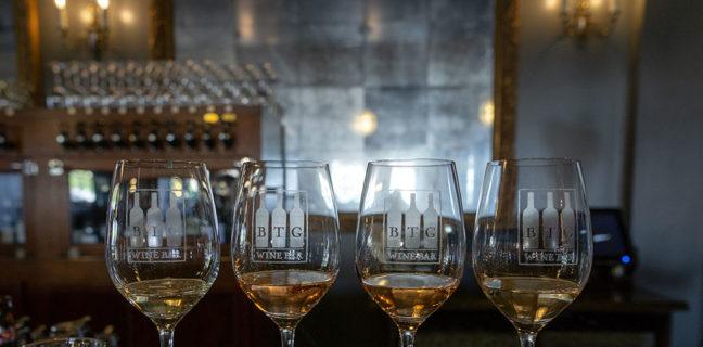 BTG Wine Bar - rose wine flight