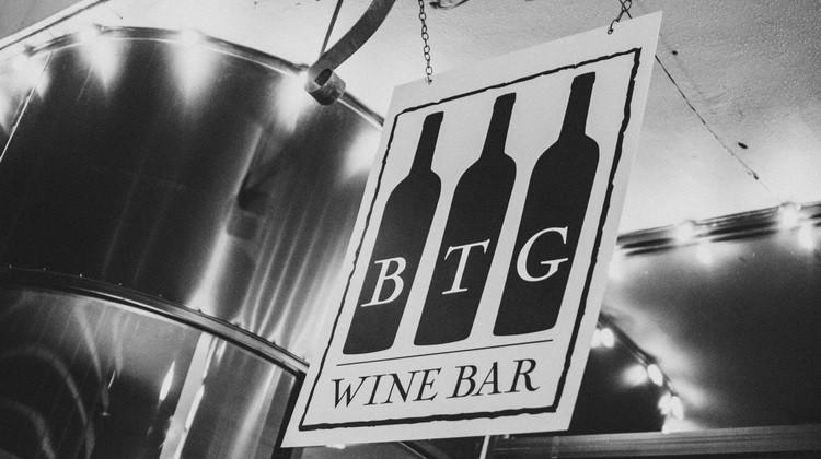 btg wine bar exterior signage