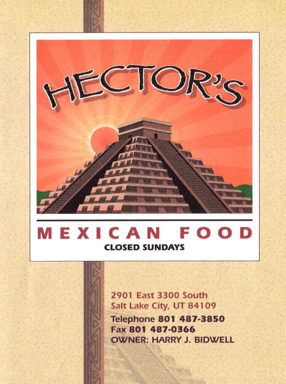 Hector's Mexican Food menu - front page of menu