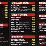 Chronic Tacos Sugarhouse menu