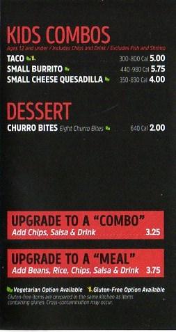 Chronic Tacos menu 2