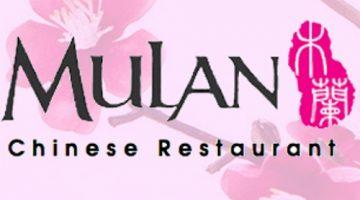 Mulan Chinese Restaurant menu
