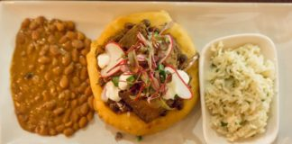 Black Sheep Sugar House - fry bread tacos with brisket