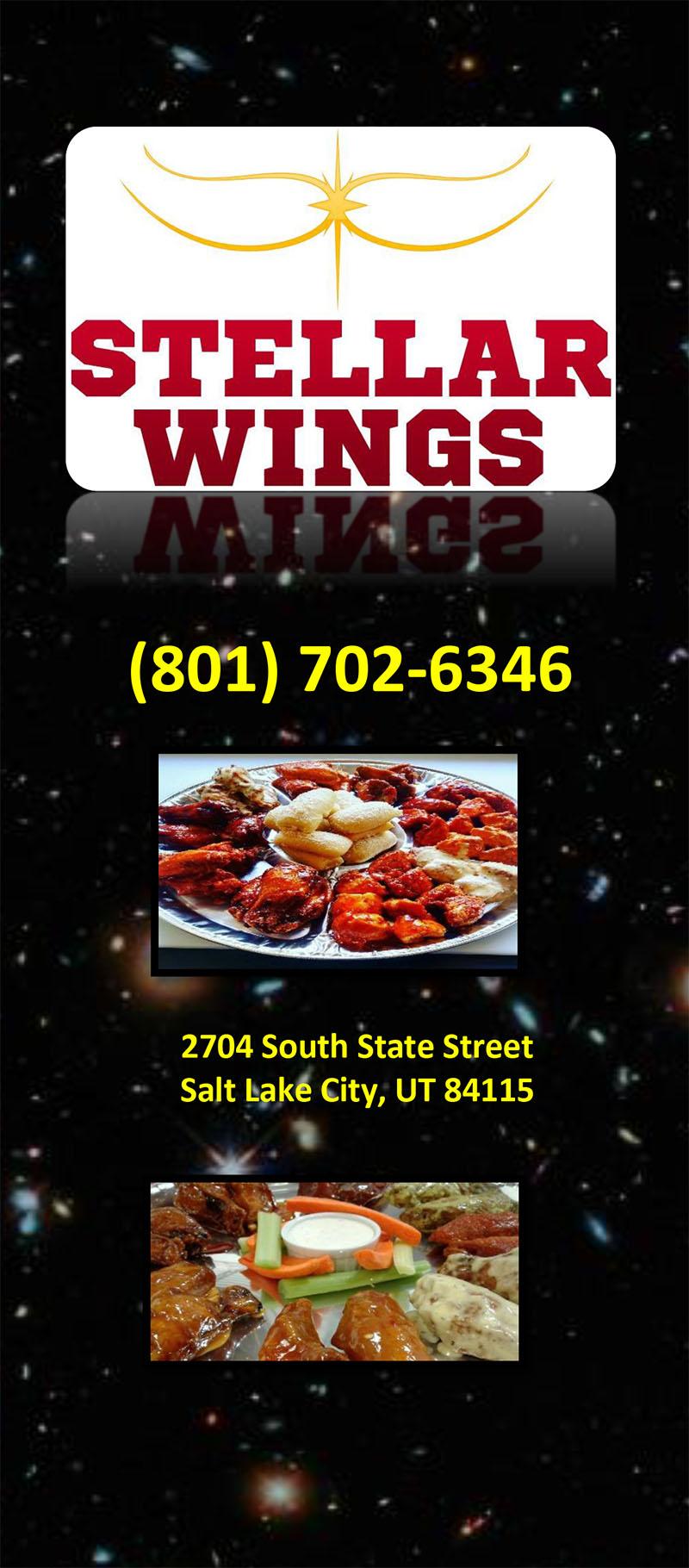 Stellar Wings menu - menu cover